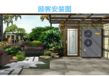 ヒートポンプに水をまく床暖房及びEviの冷却の空気のため