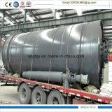 Usine en plastique de rebut de pyrolyse de la machine 10ton de raffinerie