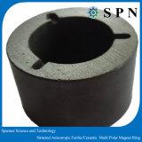 Anelli multipolari del magnete del ferrito permanente anisotropo per i rotori