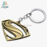 Metallo su ordinazione Keychain del regalo del pezzo fuso dell'oggetto d'antiquariato del superman d'ottone promozionale dell'argento