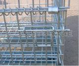 Contenitore d'impilamento pieghevole pieghevole galvanizzato del pallet della rete metallica