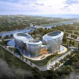 Rendição modelo de Architectual do projeto exterior do processo de Woderful