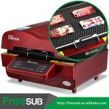 Freesub todo en una máquina de la prensa del calor de la sublimación de la caja del teléfono de la taza 3D
