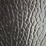Couro clássico do PVC do couro artificial do PVC da almofada do coxim do carro do teste padrão do Litchi do parágrafo da certificação Z010 do ouro do GV