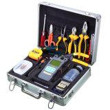 Caja de herramientas óptica de fibra de FTTH con el contador de potencia y la cuchilla ópticos de la fibra