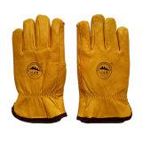 Защитные теплые кожаный перчатки Riggers для горнорабочих с полной подкладкой