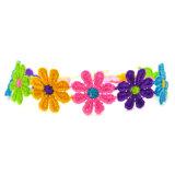 Kleurrijke Met de hand gemaakt haakt de Halsbanden van de Nauwsluitende halsketting van de Bloemen van de Kabel voor Vrouwen