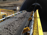 Curvado horizontalmente transportando transporte fixo da mineração da correia do equipamento