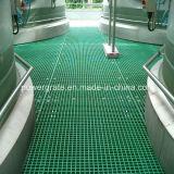 Отлитая в форму решетка пола FRP стеклоткани пластичная