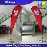 Флаги пляжа печатание сублимации краски индикации, флаги Teardrop, флаги пера