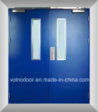 Fuego Rated Steel Door/Double Steel Fire Door con UL Certificate