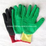 Перчатки покрынные латексом, перчатки Crinkle латекса, перчатки работы, трудные перчатки предохранения