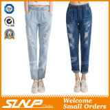 Manier Strench Stratch van de straat &Ripped Vrouwen Lang Jean Pants Clothing