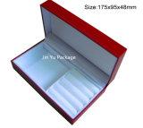 Коробка ювелирных изделий подарка кожи фальшивки сини военно-морского флота упаковывая для браслета