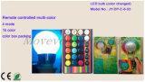 Indicatore luminoso di lampadina multicolore telecomandato del LED 3W