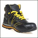Мягкие единственные ботинки безопасности неподдельной кожи облегченные