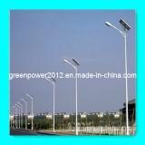 Garantía de acero de poste de calle de la luz LED de la lámpara de la batería solar del gel 3 años