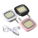 Mini lampe-torche universelle neuve de 16 DEL Selfie pour des téléphones, appareils-photo