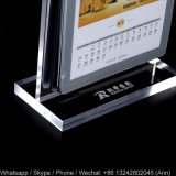 Nouveau style T Shape Desktop Acrylic Calendar Holder Display Racks pour calendrier, photo ou menu