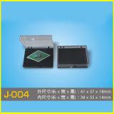 Rectángulo transparente rectangular del Pin del plástico