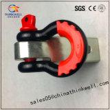 """2.5 """" *2.5 """" che rimorchiano il legamento della ricevente con lo spinotto e la clip dell'anello di trazione"""