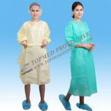 Wegwerfbares PE/PP+PE/CPE/SMS/PP medizinisches Kleid/chirurgisches Gown/Isolation Kleid