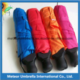 Einfaches Take Foldable Compact Lover Umbrella mit Polyester Pongee Fabric Canopy