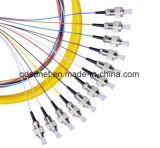 la fibre optique 12cores a lié le tresse FC/Upc
