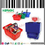 Портативно определите корзину ручки пластичную для супермаркета