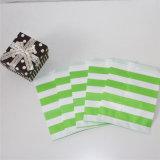 Зеленый Striped мешок конфеты бумаги украшения