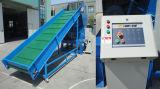 Plástico de la máquina trituradora y trituradora de plástico que se utiliza con el transportador