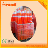 Cono riflettente colorato differente di traffico del PVC dei 2 nastri