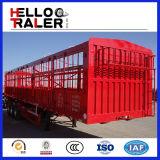 3つの車軸60トンの輸送の塀の貨物トラックのトレーラー