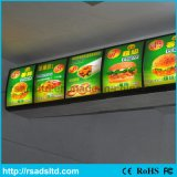 Menu Alumínio de Alimentos LED Light Box Display