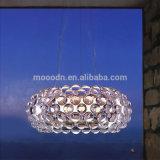 Cubierta de acrílico moderno redondo claro Caboche Suspensión Foscarini Caboche colgante para sala de estar