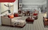 Mobília norte da HOME do estilo de Europa, sofá da tela do projeto simples (M610)