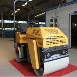 최신 판매 두 배 드럼 1 톤 쓰레기 압축 분쇄기 진동하는 롤러