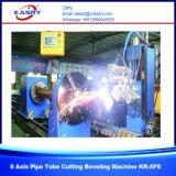 Macchina di smussatura d'acciaio Kr-Xf8 di taglio alla fiamma di Plamsa di profilo del tubo del tubo di CNC di 8 assi