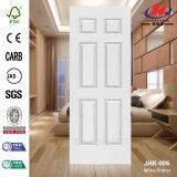Alisar a pele branca de madeira moldada da porta da primeira demão (JHK-006)