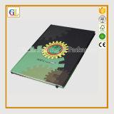 Cuaderno modificado para requisitos particulares de la cubierta de la PU con insignia de sellado caliente