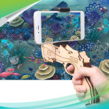 Wpste-Ar игра увеличенная DIY реальности 3D Vr Bluetooth 4.0 деревянный Ar дает полный газ игрушкам с держателем телефона