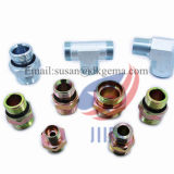Adaptador hidráulico roscado te del conector del manguito del adaptador del adaptador del codo de la instalación de tuberías de acero inoxidable