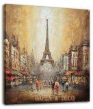 Pintura al óleo de las escenas de la calle de París (ADA9117)
