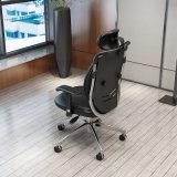 Cadeira de couro do escritório do plutônio com espaldar gêmeo