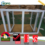 O Casement do impato do furacão do painel do dobro do vinil do PVC elimina Windows