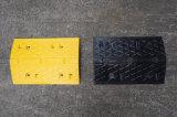 安い価格の黒の&Yellowのゴム製交通安全の速度のこぶ