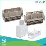 24 вставки разъема IP65 Contacts+PE 500V/16A сверхмощных Pluggable