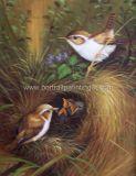 Картина маслом - птица 2