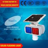 (ND-J13) 두 배는 태양 LED 번쩍이는 소통량 경고등 세륨 증명서 IP65로 고품질 편든다