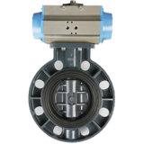 Válvula de borboleta Dn50-Dn300 do atuador não pneumático do PVC